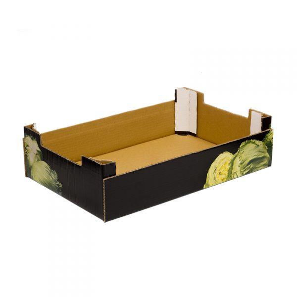 Caja Cartón Troquelada Lechuga 580X380X155