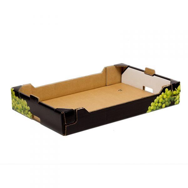 Caja Cartón Troquelada Uva 600X400X90