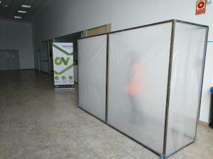 Túnel desinfectante de ozono en Vegabaja Packaging