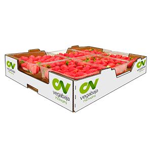 Caja con fresas, Vegabaja Packaging