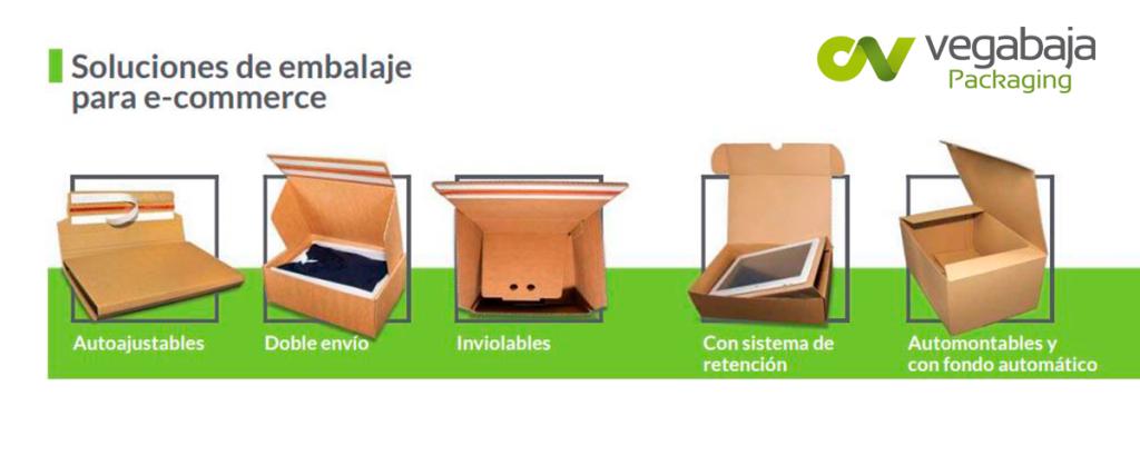 Tipos de soluciones de embalaje para ecommerce