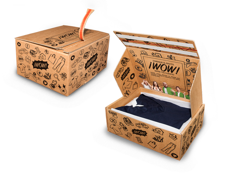 Packaging ecommerce efecto wow