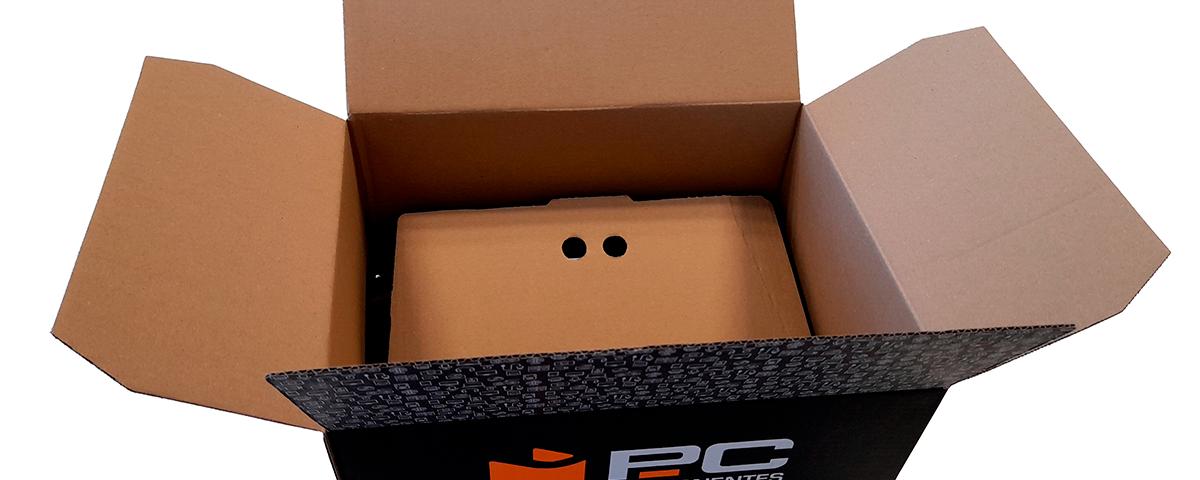 Caja PcComponentes fondo reforzado Vegabaja Packaging