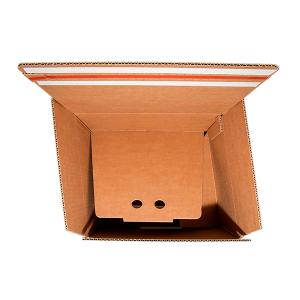 Caja fondo automático reforzado doble envío Vegabaja Packaging abierta